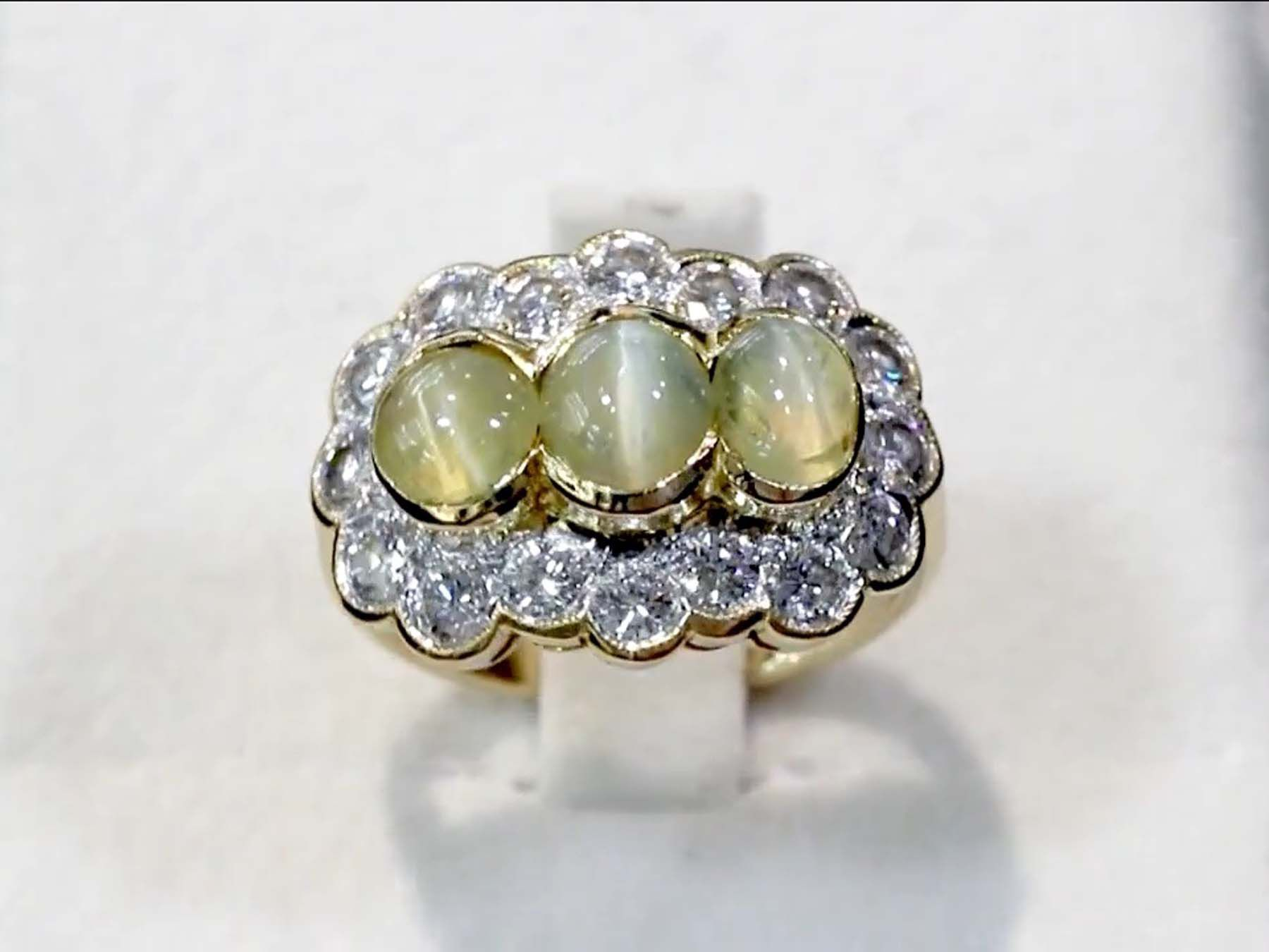 Cat's Eye Chrysoberyl Ring