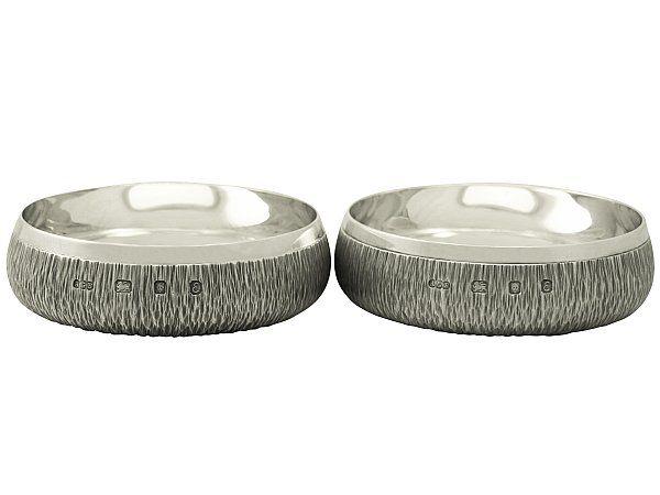 georgian silver coasters