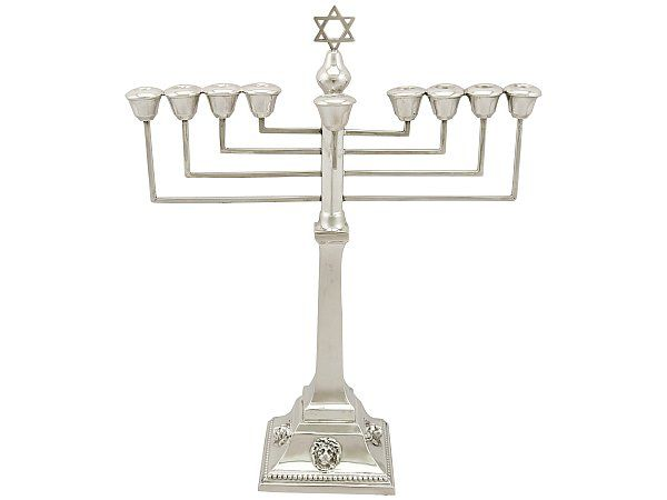 history of judaica silver