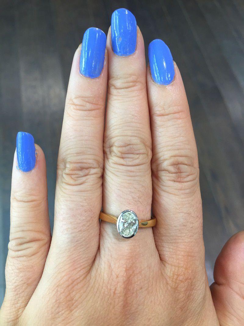 1 Carat Oval Cut Ring