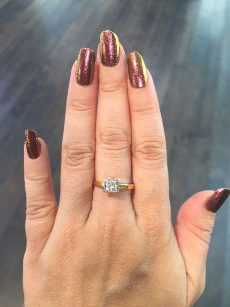 1 carat Princess Cut ring