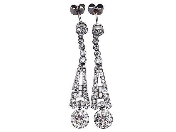 1920s Diamond Drop Earrings