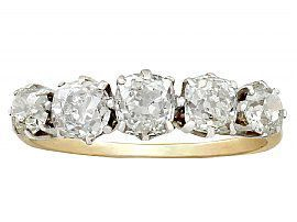 antique diamond five stone rings