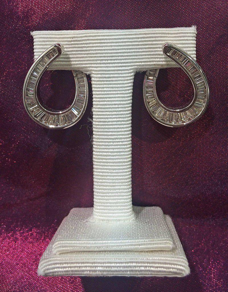 Vintage Diamond Loop Earings