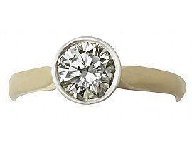 bezel set gold engagement ring