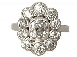 bezel cluster diamond ring
