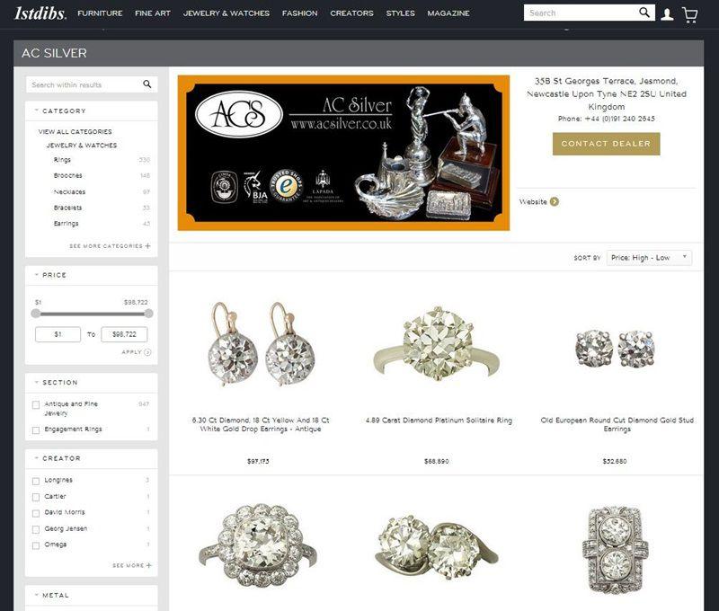ac silver jewellery on 1stdibs