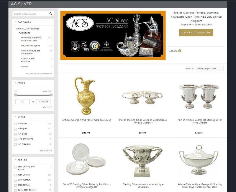 ac silver silverware on 1stdibs