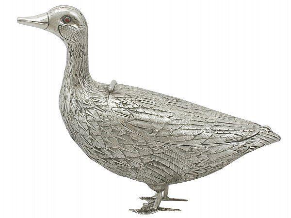 silver duck sugar box
