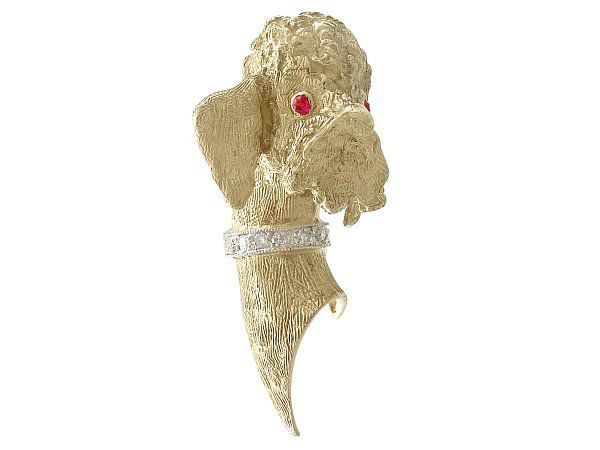 Diamond Gold Brooch