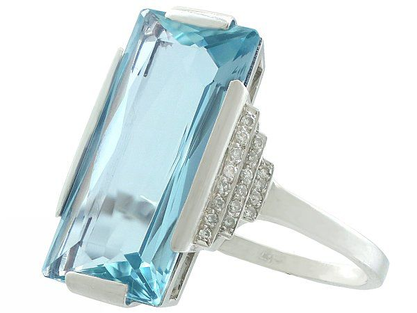 antique aquamarine rings