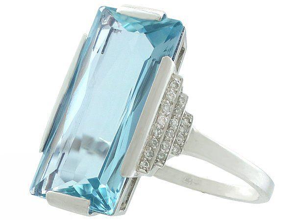 antique aquamarine rings