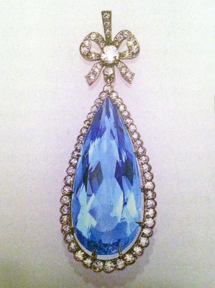 Antique Aquamarine Pendant
