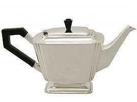 Art Deco silver teapot