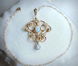 art nouveau pendant - jewellery
