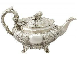 Indian silver teapot