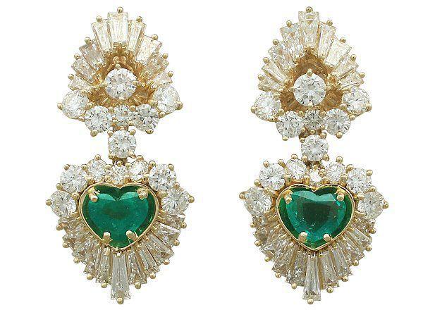 Emerald Clip-On Earrings