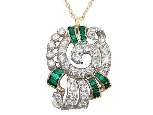 Synthetic Emerald Pendant