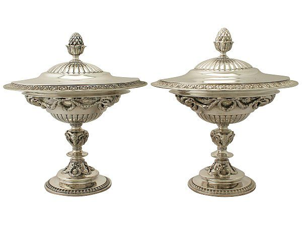 Sterling Silver Caviar Dishes