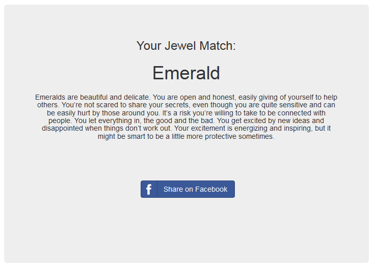 Your Jewel Match Is Emerald