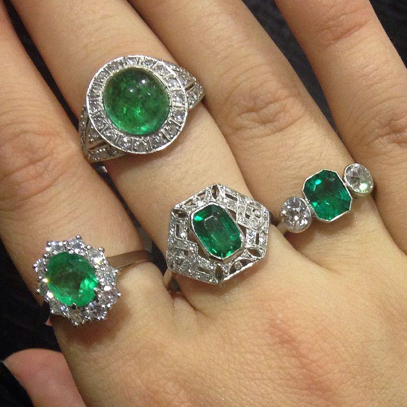 AC Silver Emerald Jewellery