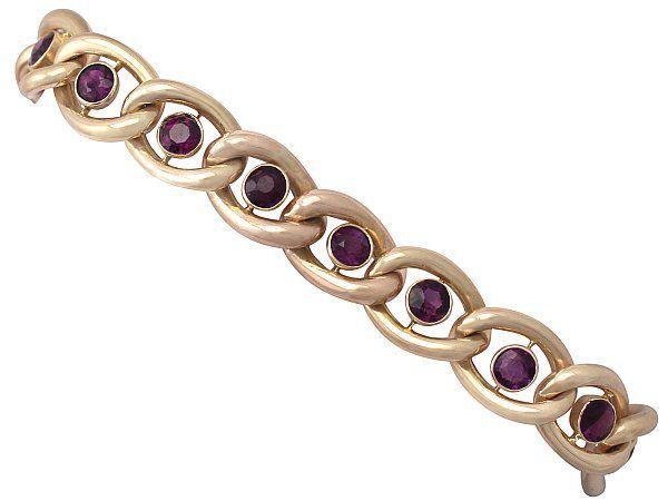 Gold Amethyst Bracelet