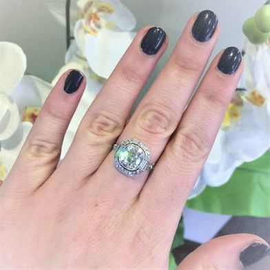 halo ring on hand