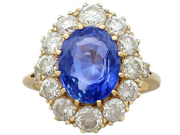 Sapphire Cluster Ring