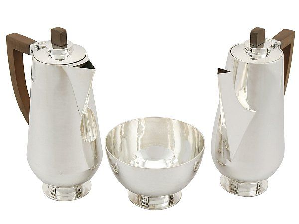 silver cafe au lait set
