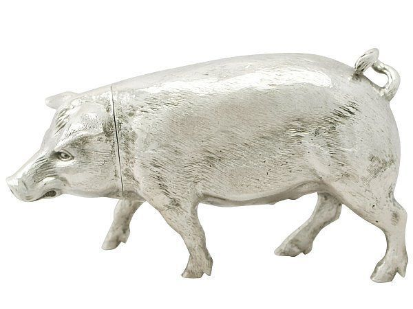 silver pig sugar box