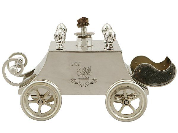 Silver carriage lighter