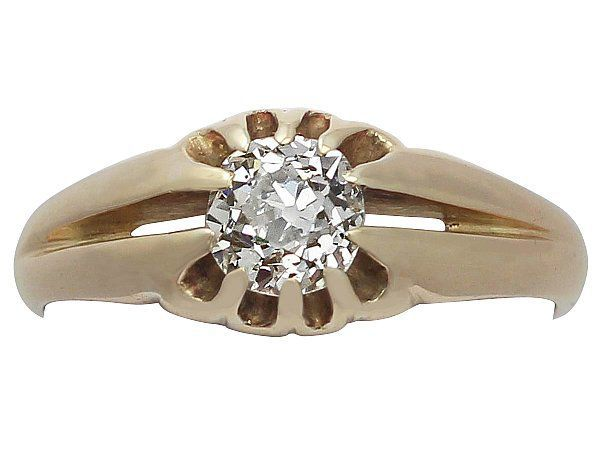 mens solitaire ring