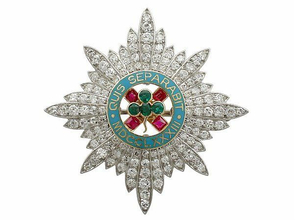 Cartier military brooch