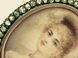 Miniature portrait close up