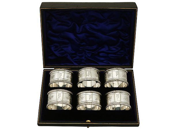 boxed silver napkin rings
