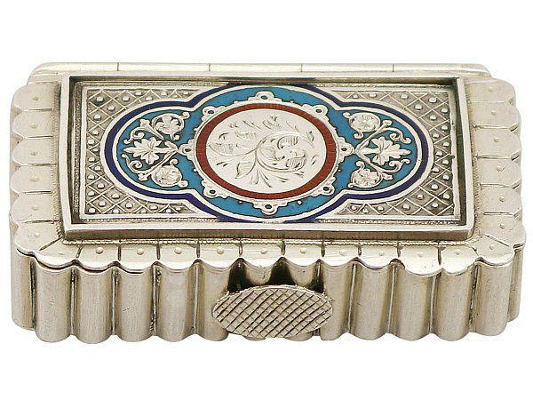 sterling silver vesta case