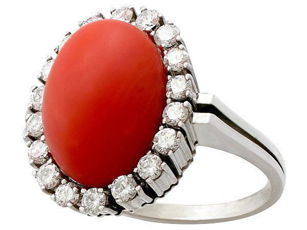 womens coral ring