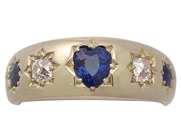 sapphire heart ring