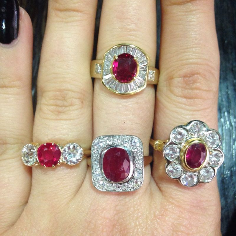 Ruby engagaement Rings