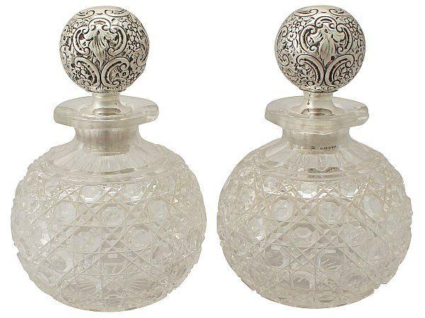 Silver scent bottles