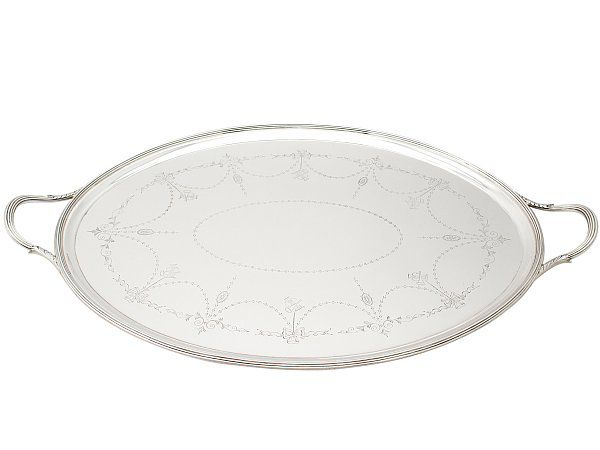silver tea tray