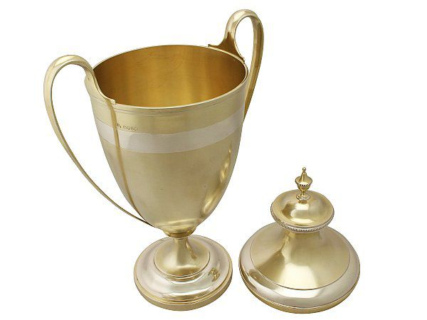 Gilt Cup and Cover
