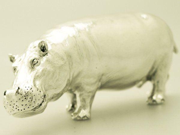 silver hippo