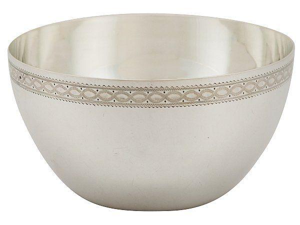 Silver Slop Bowl
