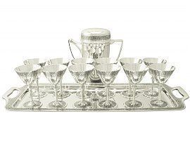 silver cocktail set