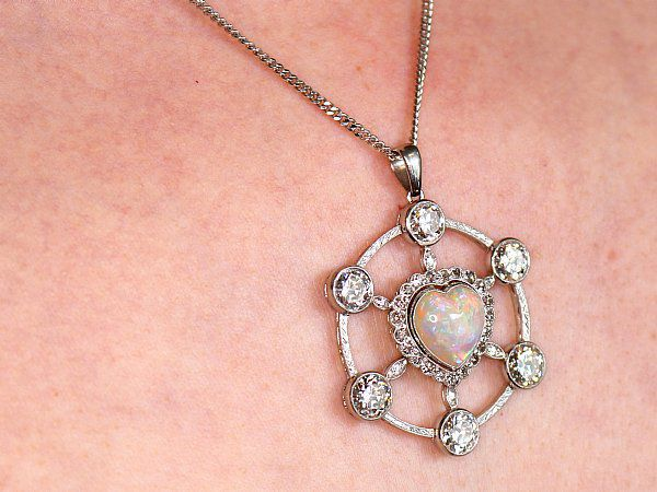 valentines opal pendant