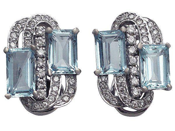 1970s Art Deco Style Earrings