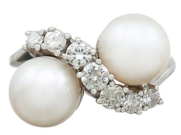 vintage opal pearl rings