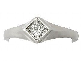 bezel set white gold ring