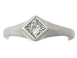 bezel set white gold ring